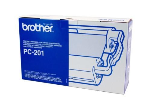 Brother PC-201 Print Cartridge + 1 Roll